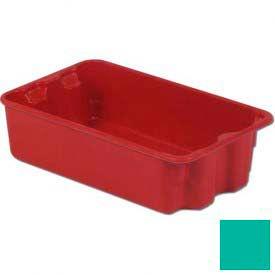 LEWISBins Plexton® SN1610-5 Fiberglass Stack-N-Nest Container, 17-29/32 x 10-13/16 x 5, Green - Pkg Qty 10