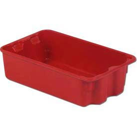LEWISBins Plexton® SN1610-5 Fiberglass Stack-N-Nest Container, 17-29/32 x 10-13/16  x  5, Red - Pkg Qty 10