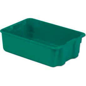 LEWISBins Plexton® SN1812-6 Fiberglass Stack-N-Nest Container, 19-13/16 x 12-13/16 x 6, Green - Pkg Qty 10