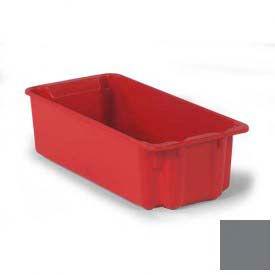 LEWISBins Plexton® SN2010-7 Fiberglass Stack-N-Nest Container 24-1/8 x 11-13/32 x 6-29/32 Gray - Pkg Qty 5