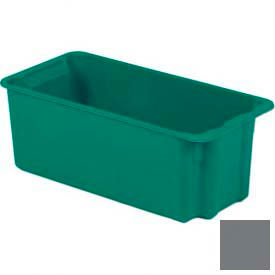 LEWISBins Plexton® SN2010-9 Fiberglass Stack-N-Nest Container, 24-1/8  x  11-13/32  x  9, Gray - Pkg Qty 5