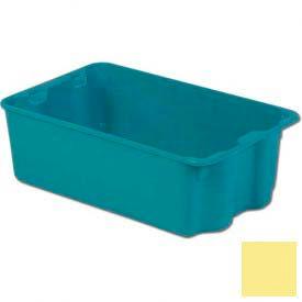 LEWISBins Plexton® SN2214-8 Fiberglass Stack-N-Nest Container, 24-5/16 x 14-13/16 x 8, Yellow - Pkg Qty 4