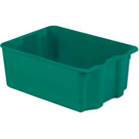 LEWISBins Plexton® SN2217-10 Fiberglass Stack-N-Nest Container, 25-5/16 x 18-1/8 x 10-1/8 Green - Pkg Qty 2