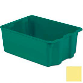 LEWISBins Plexton® SN2217-10 Fiberglass Stack-N-Nest Container, 25-5/16 x 18-1/8 x 10-1/8Yellow - Pkg Qty 2