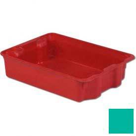 LEWISBins Plexton® SN2217-6 Fiberglass Stack-N-Nest Container, 25-5/16 x 18-1/8 x 6-1/8, Green - Pkg Qty 5