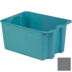 LEWISBins Plexton® SN2419-14 Fiberglass Stack-N-Nest Container 27-1/2 x 19-29/32 x 14-1/8 Gray - Pkg Qty 2