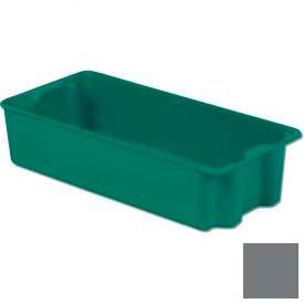 LEWISBins Plexton® SN2713-7 Fiberglass Stack-N-Nest Container, 29-5/8  x  13-13/16  x  7, Gray - Pkg Qty 5