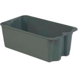 LEWISBins Plexton® SN2716-11 Fiberglass Stack-N-Nest Container 30-5/8 x 16-29/32 x 11-1/8 Gray - Pkg Qty 2