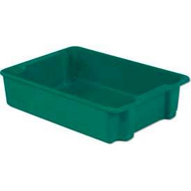 LEWISBins Plexton® SN3023-8 Fiberglass Stack-N-Nest Container, 34-1/8  x  24  x  8-1/8, Green - Pkg Qty 3