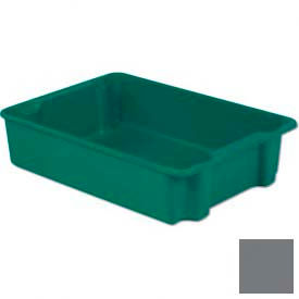 LEWISBins Plexton® SN3023-8 Fiberglass Stack-N-Nest Container, 34-1/8  x  24  x  8-1/8, Gray - Pkg Qty 5