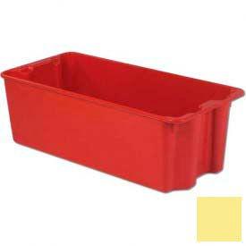 LEWISBins Plexton® SN3919-14 Fiberglass Stack-N-Nest Container, 42-1/2 x 20-1/8 x 14-1/8,Yellow
