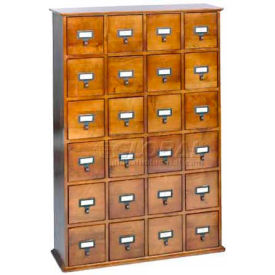 Merveilleux Library Style Multimedia File Drawer Cabinet Walnut, 456 CDs/192 DVDs