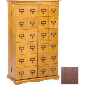 Leslie Dame Library Card File Door Front Multimedia Storage Cabinets Dark Oak