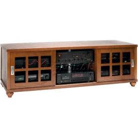 Contemporary Style Flat Panel TV Console Walnut