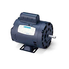 Leeson Motor-3/4HP, 115/208-230V, 1725RPM, DP, Rigid Mt, 1.25 SF, 70 Eff.