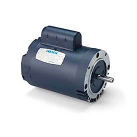 Leeson Motor-3/4HP, 115/208-230V, 1725RPM, DP, Round Mt, 1.25 SF, 70 Eff