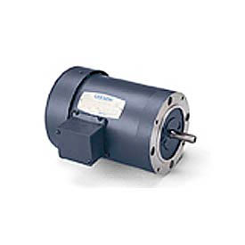 Leeson 100486.00, Standard Eff., 0.5 HP, 1725 RPM, 208-230/460V, 48CZ, TENV, C-Face Footless