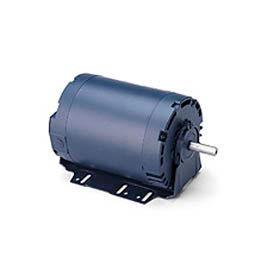 Leeson 100796.00, Standard Eff., 0.5 HP, 1725 RPM, 208-230/460V, S56, DP, Resilient Base