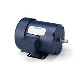 Leeson Motor-3/4HP, 208-230/460V, 3450/2850RPM, TEFC, Rigid Mount, 1.0 SF, 79 Eff.