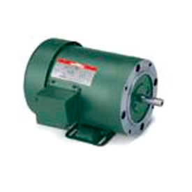 Leeson 3-Phase General Purpose Motor 1/4HP, 1725RPM, 48, TEFC, 115/230V, 60HZ, 40C, 1.15SF, Rigid