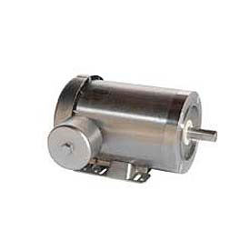 Leeson Motors 3-Phase Washguard Duty Motor 3/4HP, 1800RPM, S56, TEFC, 230/460V, 60HZ, 1.15SF