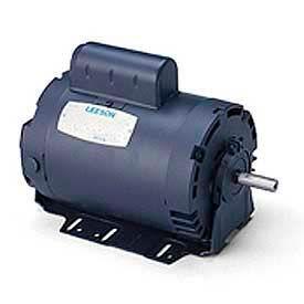 Leeson Motors Single Phase Instant Reversing Motor 1/2HP, 1625 RPM, 56FR, ODP,115V,60HZ