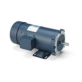 Leeson Motors DC Motor-3/4HP, 180V, 2500RPM, TEFC, Rigid C