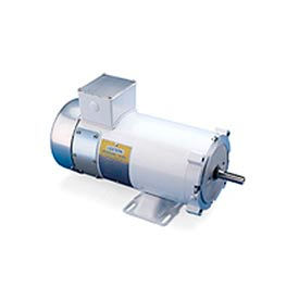 Leeson Motors Washdown DC Motor-3/4HP, 90V, 1750RPM, TENV, Rigid C