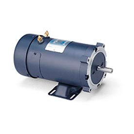 Leeson Motors DC Motor-1 1/2HP, 24V, 1800RPM, TEFC, Rigid C