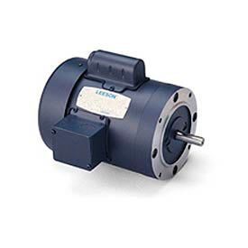 Leeson Motors-2HP, 115/208-230V, 3450RPM, TEFC, Round Mount, 1.0 SF, 73 Eff
