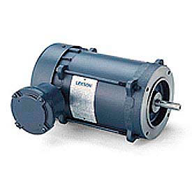 Leeson Single Phase Explosion Proof Motor 1HP, 1725RPM, 56, EPFC, 60HZ, Automatic, 1.0SF, Round