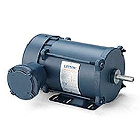 Leeson Motors - .5/.33HP, 208-230/460V, 3450/2850RPM, EPNV, Rigid Mount, 1.0 S.F.