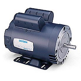 Leeson Motors Motor Electric Motor - 2HP, 115/208-230V, 1725RPM, DP, Rigid C Mount, 1.15 S.F.