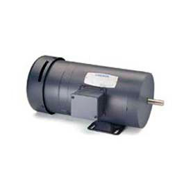 Leeson 3-Phase Brake Motor 1/2HP, 1725RPM, 56, TENV, 208-230/460V, 60HZ, 40C, 1.15SF, Rigid
