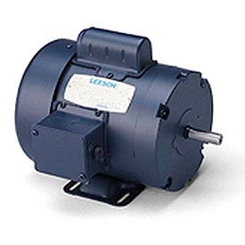 Leeson Motor - 1HP, 115/208-230V, 1725RPM, TEFC, Rigid Mount, 1.15 S.F.