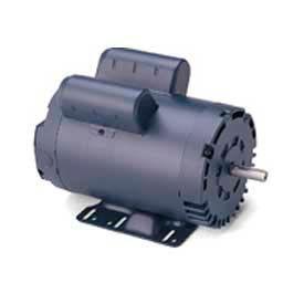Leeson Motors Single Phase General Purpose Motor 2HP, 1740RPM, 56H, DP, Manual, Rigid