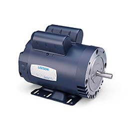Leeson Motor-1HP, 115/208-230V, 3450RPM, DP, C Face Mount, 1.25 SF, 70 Eff