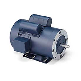 Leeson Motor-3/4HP, 115/208-230V, 1725RPM, TEFC, Rigid C Mount, 1.15 SF, 70 Eff.