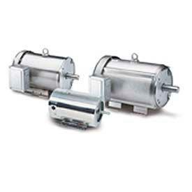 Leeson Motors 3-Phase Washguard Duty Motor 1/2HP, 3450/2850RPM, 56H, TENV, 208 230/460V, 60/50HZ