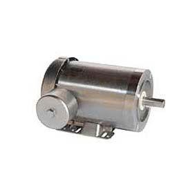 Leeson Motors 3-Phase Washguard Duty Motor 1.5/1HP, 1.12/.75KW, 1740/1440RPM.56, TEFC, 208 230/460V