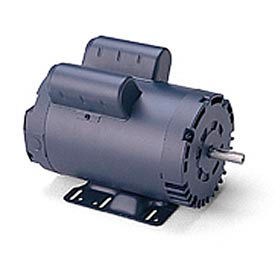 Leeson Motor - 1.5HP, 115/208-230V, 1740RPM, DP, Rigid Mount, 1.15 S.F.