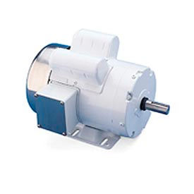 Leeson Motors Motor Washdown Motor-1HP, 115/208-230V, 1740RPM, TEFC, RIGID, 1.15 SF, 75 Eff.
