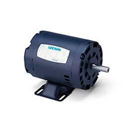 Leeson Motor-1HP, 208-230/460V, 1760/1450RPM, DP, Rigid Mount, 1.25 SF, 85.5 Eff.