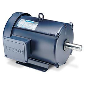 Leeson Motor - 3/1.5HP, 208-230V, 1725/850RPM, TEFC, Rigid Mount, 1.0 S.F.