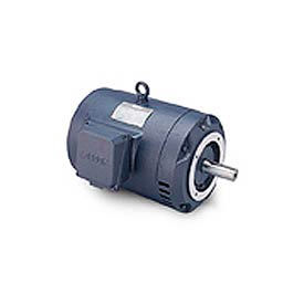 Leeson Motor-5HP, 208-230/460V, 1740RPM, DP, C Face Mount, 1.15 SF, 84 Eff.