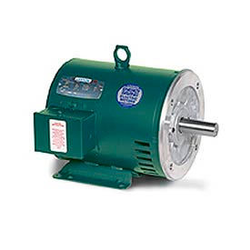 Leeson 132082.00, Premium Eff., 5 HP, 1760 RPM, 208-230/460V, 184TC, DP, C-Face Rigid