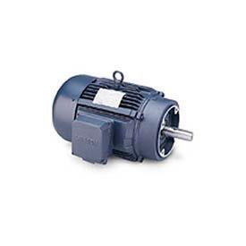 Leeson G151347.60, High Eff., 10 HP, 3450 RPM, 208-230/460V, 215TC, TEFC, C-Face Footless