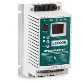 Leeson Motors AC Controls Sub-Micro Series VFD Drive , IP20, 3PH, 1/2HP, 400-480V