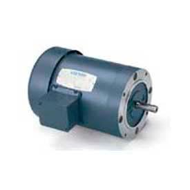 Leeson G120105.00, High Eff., 1.5 HP, 3490 RPM, 208-230/460V, 143TC, TEFC, C-Face Footless