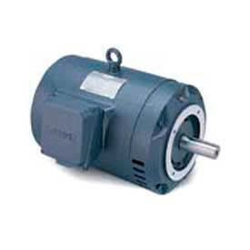 Leeson G121664.00, High Eff., 5 HP, 3600 RPM, 208-230/460V, 145TC, DP, C-Face Footless